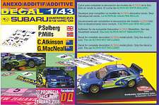 ANEXO DECAL 1/43 SUBARU IMPREZA SOLBERG & ATKINSON N.ZEALAND 2006 5th & DnF (03)