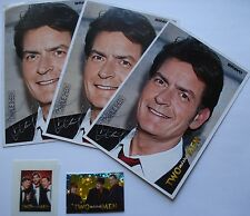 Two And A Half Men ~~ 3 carte Star + 3 Sticker ~~ raccolta/Collection