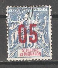St Pierre & Miquelon 1912,Surcharged,Sc 112,Fine USED (P-5)