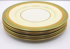 "SET OF 6 BEAUTIFUL LENOX  MARSHALL FIELD COMPANY 10-1/2"" DINNER PLATES GOLD TRIM"