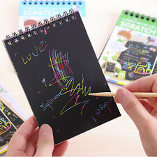 Child Toy Scratch Magic Art Painting Notebook w/Drawing Pen Magia Arte Pittura