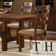 Swindon Rustic Oak Classic Dining Chair Set of 2 Room Modern Furniture Style Arm