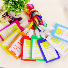 1x Plastic ID Name Card Holder Case Badge Lanyard Neck Strap Necklace Strap Top