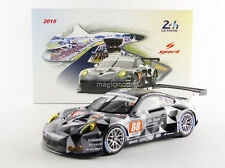 Spark Porsche 911 991 GT3 RSR 24h Le Mans 2015 Abu Dhabi  #88  1/18 Scale New!