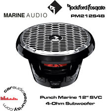 "Rockford Fosgate PM212S4B - Punch Marine 12"" SVC 4-Ohm Subwoofer - Black"