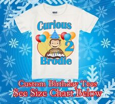 Shirt Curious George Birthday Bersonalized t Party Favor Custom Gift Name New