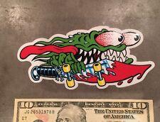 6 Inch Santa Cruz Slasher Skull Skate Skateboard Sticker Screaming Hand OG