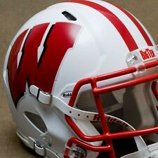 WISCONSIN BADGERS NCAA Authentic FULL SIZE Football Helmet DECALS / STICKERS
