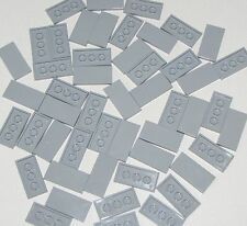 Lego Lot of 50 New Light Bluish Gray Tiles 2 x 4 Flat Smooth Parts