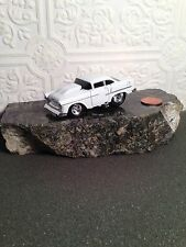 MUSCLE MACHINES 55 CHEVY DIE CAST CAR 1/64 1955 CHEVROLET WHITE