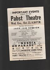 1946 Program for the Pabst Theater in Milwaukee
