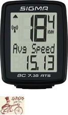 SIGMA BC 7.16 ATS WIRELESS BLACK BICYCLE SPEEDOMETER COMPUTER
