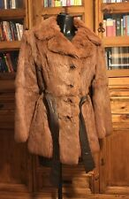 Vintage Genuine Real Fur Coat/Jacket Ladies Short Length Brown Stunning U.K. 14