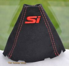 FITS HONDA CIVIC Si SEDAN COUPE FA FG ACURA CSX SUEDE SHIFT BOOT Red Embroidery