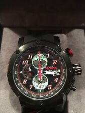 ***RED LINE GTO MENS CHRONOGRAPH SILICONE BLACK STRAP WATCH MODEL 308C-01***
