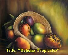 "Buy 1 Get 2nd 50% Off !!'"" Delicias Tropicales "" . Oil Painting 30"" x 24""."