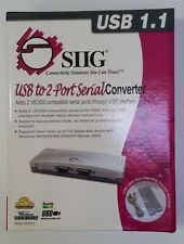 Brand New SIIG Inc USB to 2 Port Serial Converter RoHS JU-HS2012-S2