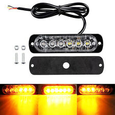 6 LED Motorcycle Warning Brake Tail Stop Strobe Flash Emergency Light Lamp Amber