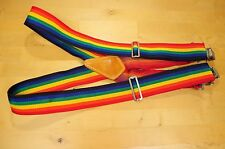 Custom Leathercraft Rainbow Work Suspenders Made in USA No. 110 RB Made in USA