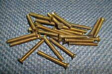 6BA x 7/8 BRASS COUNTERSUNK CSK SLOTTED SCREWS QTY (25)