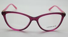 Versace VE 3194 Fuchsia/Pink 5097 52-15-140 Italy Eyeglasses Mod 3194 Cat Eye RX