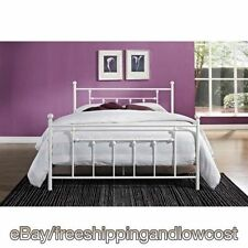 Furniture Footboard Headboard White Full Size Bed Frame Metal Bedroom NEW
