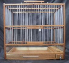 Big Wooden Hand Crafted Bird Cage;  Slide Out Tray, Plexiglas