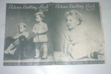 Knitting Patterns - Patons 175 -  Girls & Boys Todlers