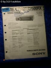 Sony Service Manual XR C7500R /C7500RX Car Stereo (#5330)