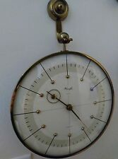 Vintage Antique Brass windup Kienzle 8-Day Wall Clock Made in Germany
