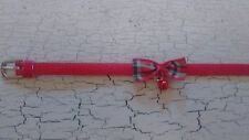 Hand crafted red chaton collier avec tartan bow