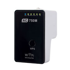 AC750 WiFi Range Extender Router Reapter Dual Band 750Mbps 802.11ac US Plug Home