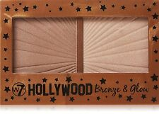 W7 Hollywood Bronce & STREET Glow duo highlighter BRONZING Maquillaje Compacto