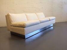 original mid century modern sofa baughman chrome probber evans