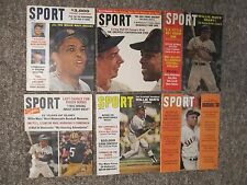 WILLIE MAYS. SIX 1961-1968 SPORT Magazines with him on the cover.