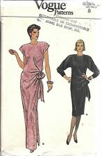 9106 Vintage Vogue Sewing Pattern Misses Loose Fitting Pullover Evening Dress 8