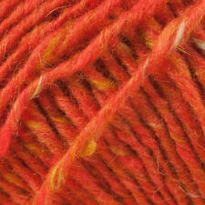 10 X DEBBIE BLISS DONEGAL LUXURY TWEED ARAN YARN SH 37 TANGERINE PACK OF 10
