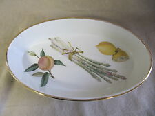 ROYAL WORCESTER EVESHAM OVAL BAKING DISH GOOD CONDITION W/ LIGHT GOLD LOSS