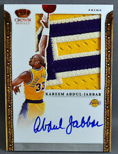 11-12 Panini Preferred Kareem Abdul Jabbar NBA JERSEY PATCH AUTO #5/5 2011 2012