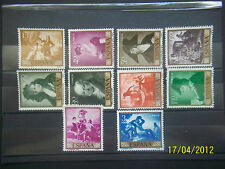 "SPAIN. 1958. SPANISH PAINTER PICTURES ""GOYA"". EDIFIL 1210-1219.  MNH."