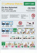 Safety Card CRJ 900 CityLine ----- LH ------ Sicherheitsdatenblatt ------ NEU !