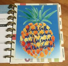 Sweet Pineapple Two-Sided Dashboard for use with Happy Planner *Create 365*
