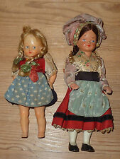 Vintage Dolls x 2 Complete, No Damage, Early Plastics, Decorative Antique
