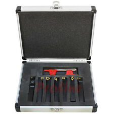 7 Pc 3/8'' Indexable Carbide Turning Lathe Tool Set SCLCL SDJCR SWGCR SDNCN
