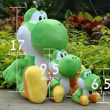 "New 1Pcs 17"" Super Mario Bros Plush Toy Green Yoshi Big Soft Stuffed Animal Doll"