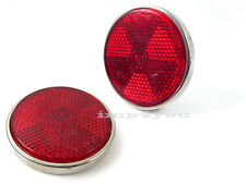 Pair Suzuki GS850G GS1000C EC EN N GS1000S Tail Seat Cover Reflector RED