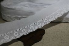 14Yds Broderie Anglaise cotton eyelet lace trim 3cm white YH742 laceking2013