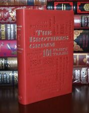 The Brothers Grimm: 101 Fairy Tales Unabridged Deluxe Soft Leather Feel