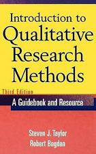 Introduction to Qualitative Research Methods by Robert Bogdan and Steven J....