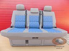 VW T5 Sitzbank Multivan Sitz Schlafbank  seat bench Blau Blue LLL